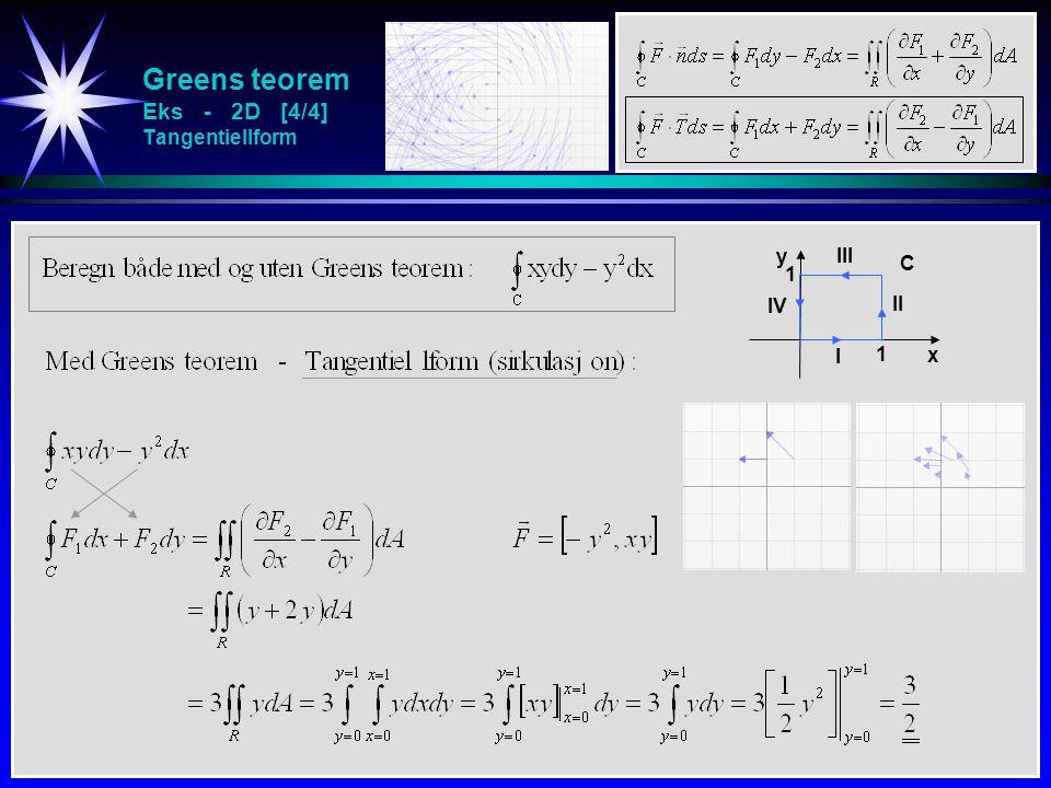 Greens teorem Eks - 2D [4/4] Tangentiellform